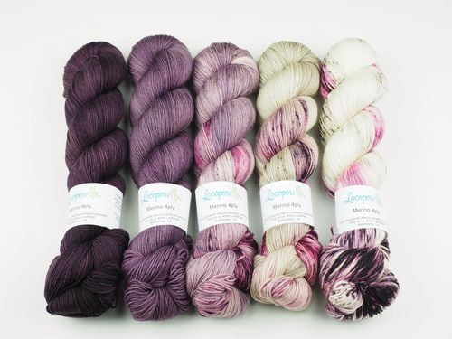 Lady Fade, Sweater Set, 5 x 100 g Merino 4ply