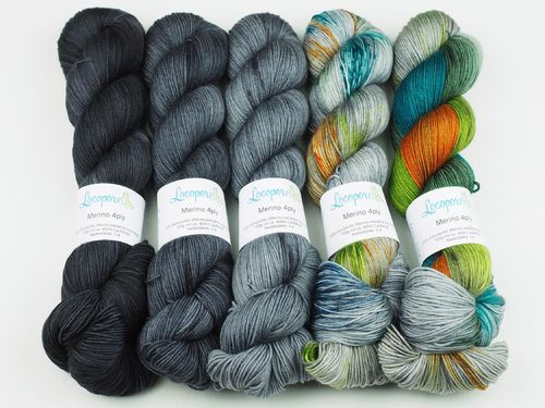 Irish Girl Fade, Sweater Set, 5 x 100 g Merino 4ply